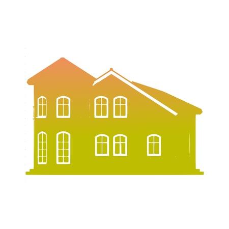Архитектурный эскиз дома - вектор Иллюстрация