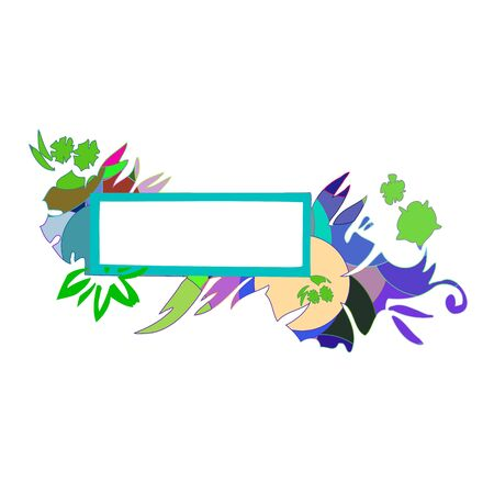 Abstract colorful border for your text - vector Stock Vector - 13426304