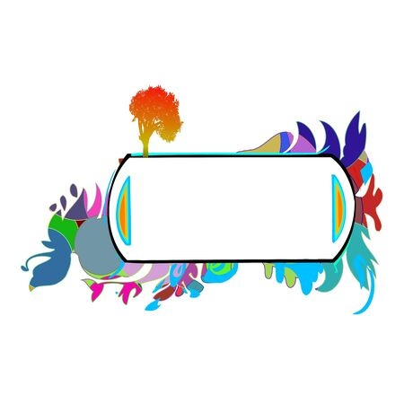 Abstract colorful border for your text - vector Stock Vector - 13426376