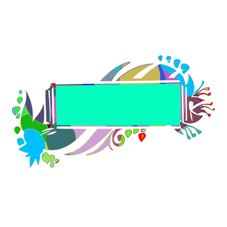 Abstract colorful border for your text - vector Stock Vector - 13425894