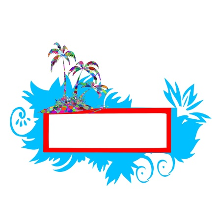 Abstract colorful border for your text - vector Stock Vector - 13426528