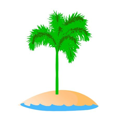 island and palm - vector