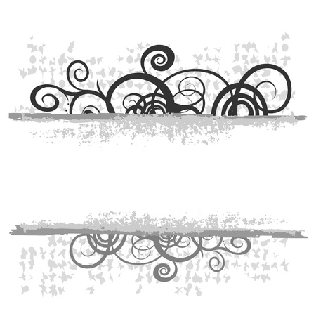 swirl floral border for your text - vector Vector