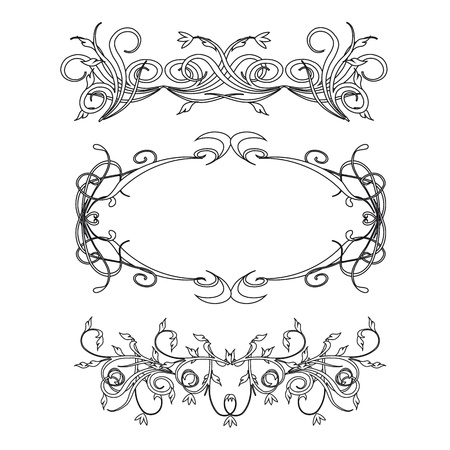 Vintage floral decorations isolated on white for design - vector Stock Vector - 13426584