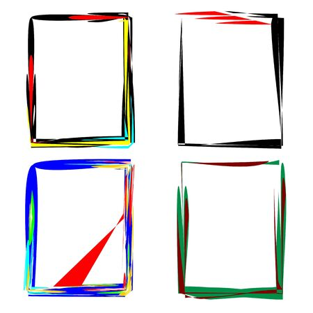 grunge frames set Stock Vector - 13426587