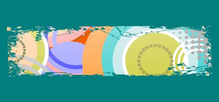 grungy colored banner with circles Vector