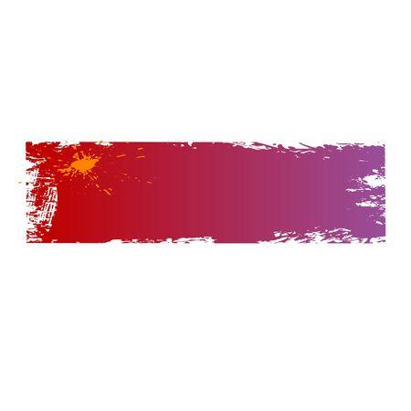 шероховатый цветные баннеры с кляксами Иллюстрация
