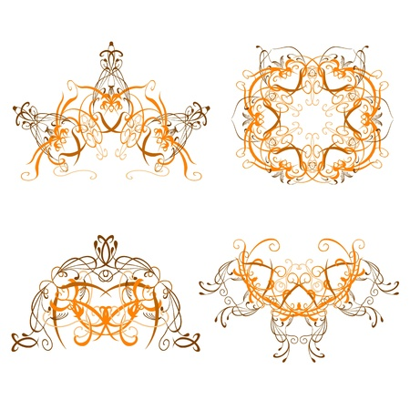 set of swirl decorative patterns - vector Stock Vector - 13427004