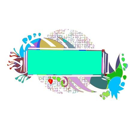 Abstract colorful border for your text - vector Stock Vector - 13427268