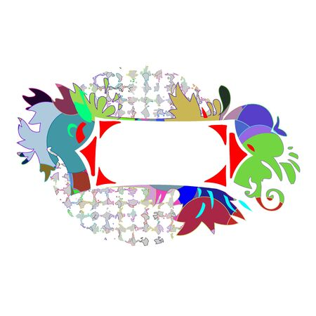 Abstract colorful border for your text - vector Stock Vector - 13427234