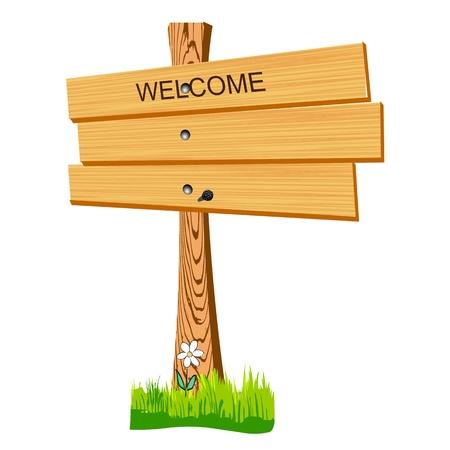 wooden billboard - vector Stock Vector - 13427377