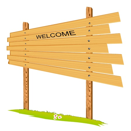 wooden billboard - vector Vector