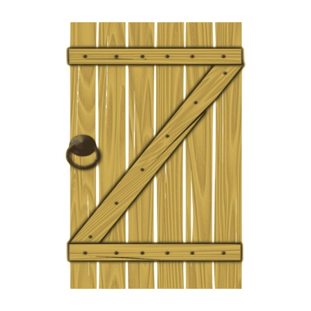 wooden gate - vector Vector