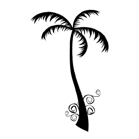 breezy: palm - vector  Illustration