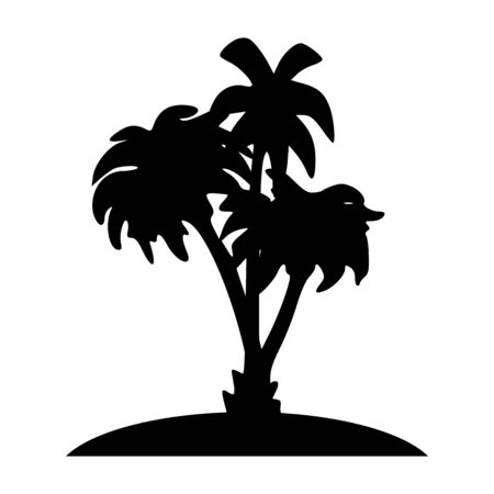 breezy: island and palms - vector