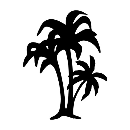 romantic getaway: palms - vector  Illustration