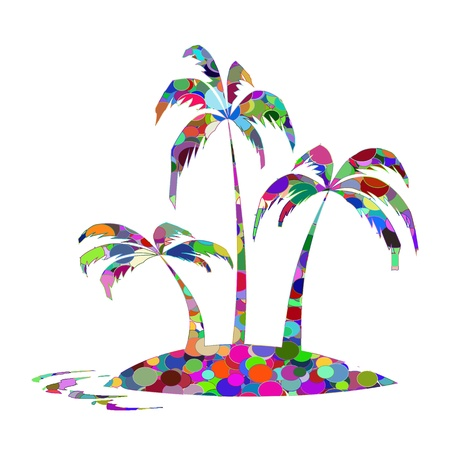 Abstract palms - vector Illustration