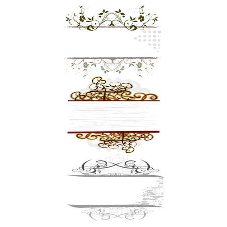 водоворот цветочные границы для вашего текста - вектор Иллюстрация