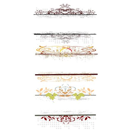 swirl floral borders for your text - vector Vector