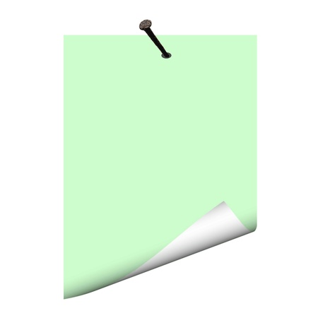 Blank paper on the nail - vector Vector