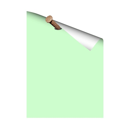 Blank paper on the nail - vector Stock Vector - 13494969