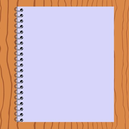 Blank paper on wood background - vector  Stock Vector - 13495056