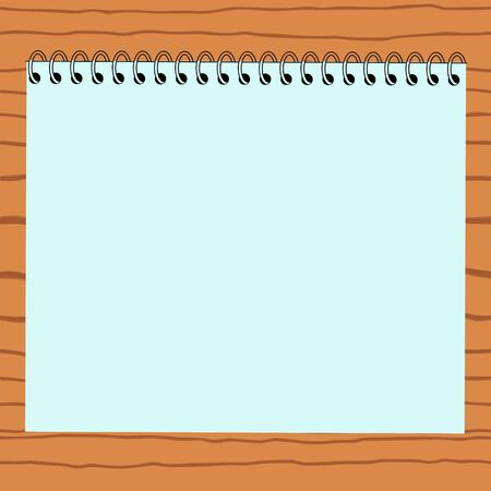 Blank paper on wood background - vector  Vector