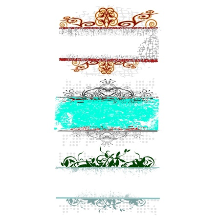 swirl floral borders for your text - vector Stock Vector - 13495517