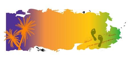 summer breeze grungy banner - vector Stock Vector - 13495489