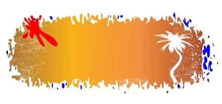 summer breeze grungy banner - vector Stock Vector - 13495471