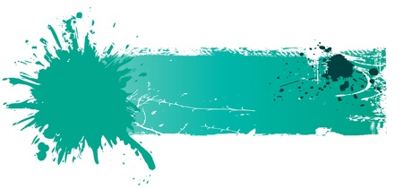 grungy colored banner with blots Vector