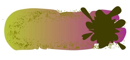 шероховатый цветные баннеры с кляксами - вектор