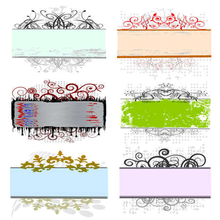 swirl floral borders for your text Stock Vector - 13715943