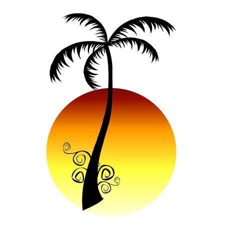 palm and sun  - vector Stock Vector - 13714234