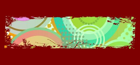 grungy colored banner with circles Stock Vector - 13716546