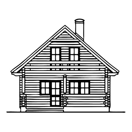 Wooden house Stock Vector - 13716088