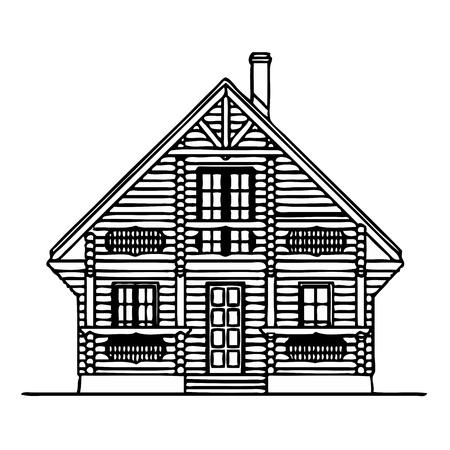 balk: Wooden house Illustration
