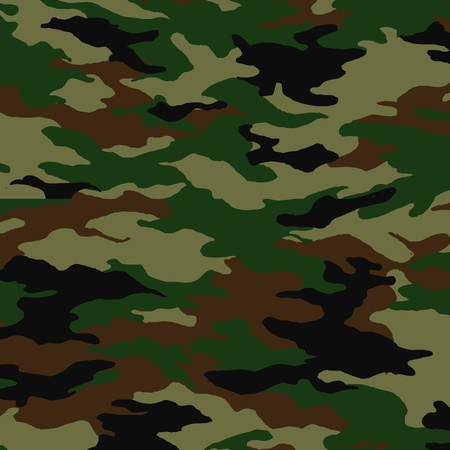military uniform: Camouflage pattern Illustration