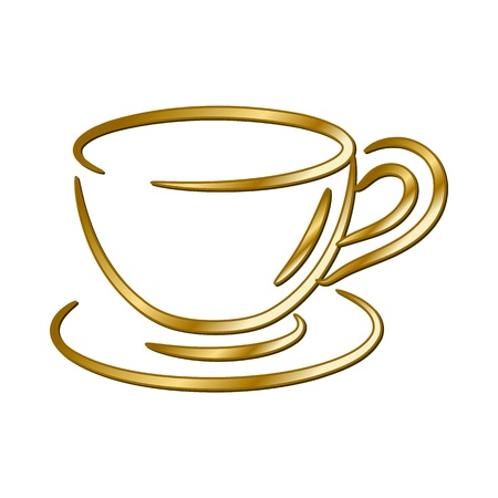 gold bar: coffee cup - vector