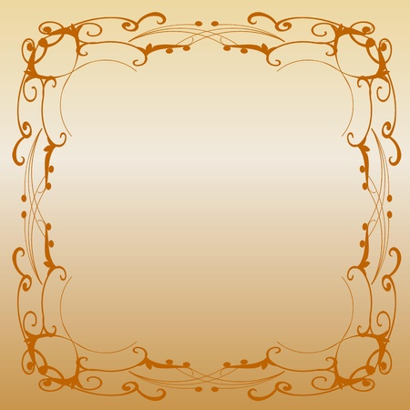 metal plate with vintage ornament - vector Vector