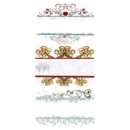 swirl floral borders for your text - vector Stock Vector - 13741599