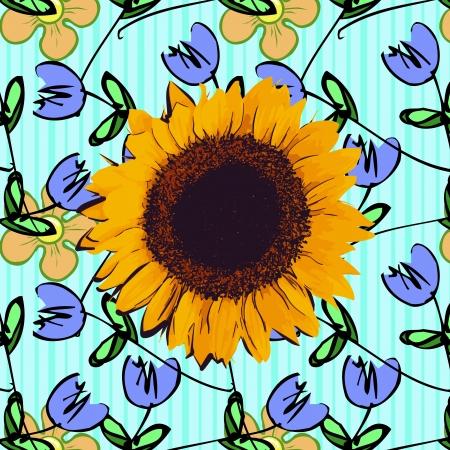 swirl floral design - vector Vector