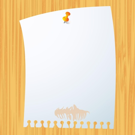Blank paper on wood background Stock Vector - 13753140