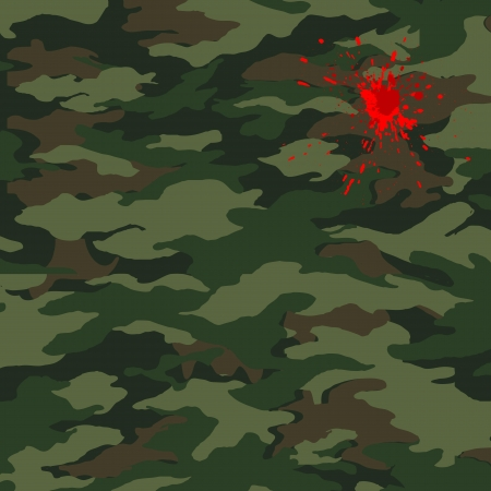 Camouflage and blood Vector