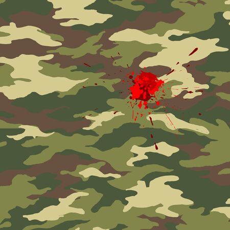 Camouflage and blood Stock Vector - 13753372
