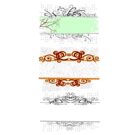 swirl floral borders for your text - vector Illustration
