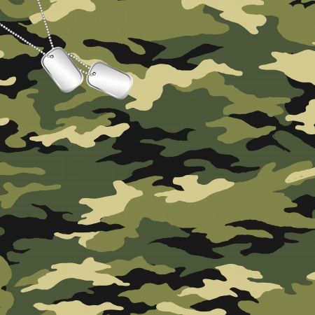 masking: camouflage and army dog tag
