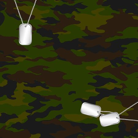 camouflage and army dog tag