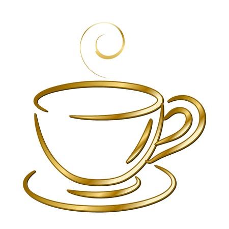 чашкой кофе