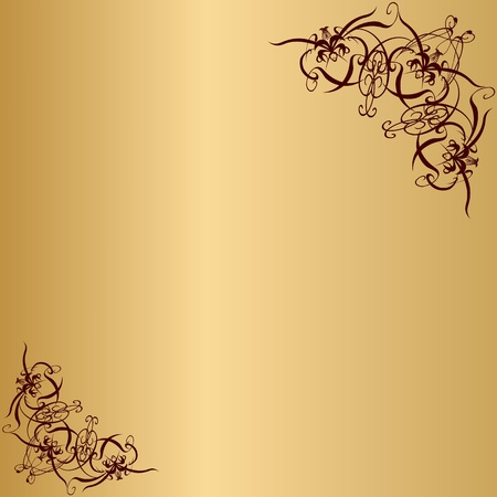 metal plate with vintage ornament Vector